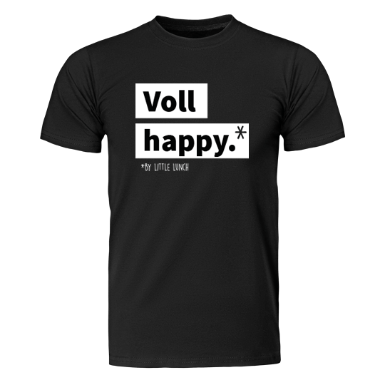 "Bio T-Shirt ""Voll Happy"" (unisex)"