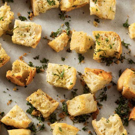 Croutons für Karottensuppe