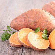 Süßkartoffeln für Kartoffelsuppe