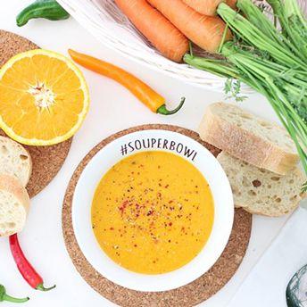 Karottensuppe mit Orange