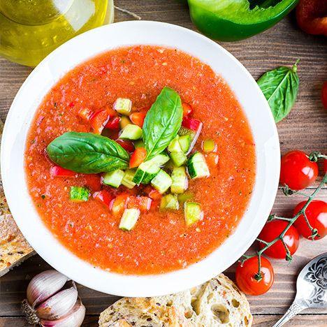 Tomatensuppe mit Gemüse